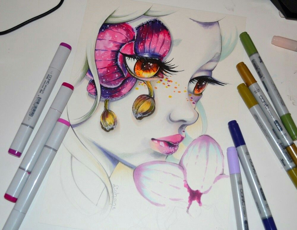 Lighane art pinterest draw copic and anime for Disegni con copic