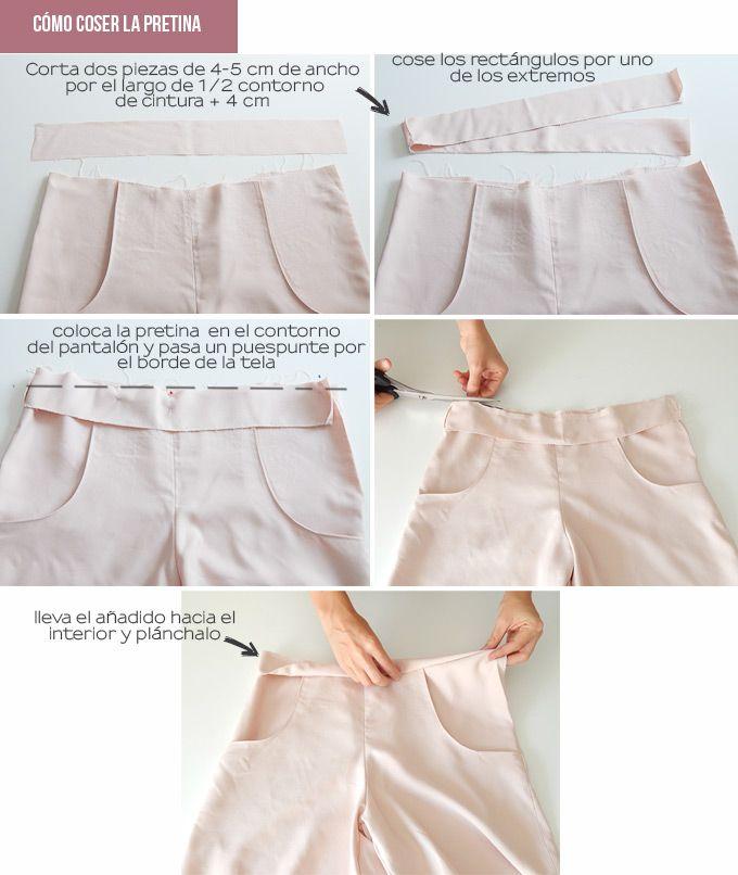 coser-pretina-pantalones   MOLDES   Pinterest   Coser, Costura y ...