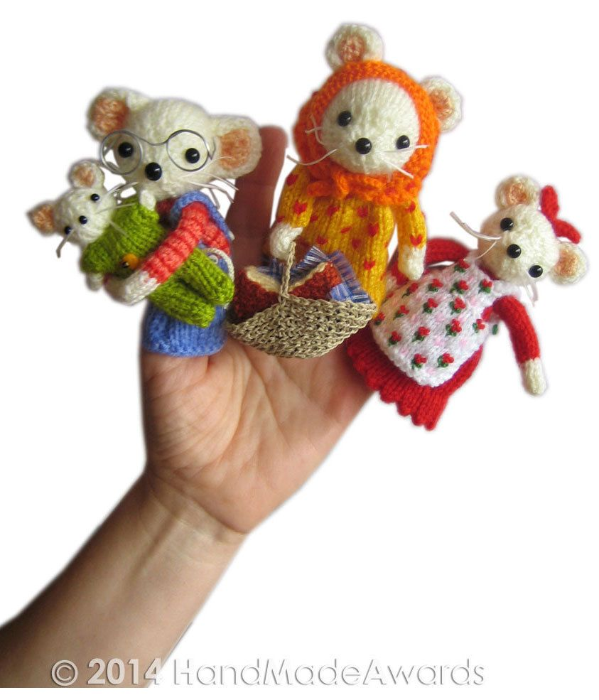 The Little House of Cheese Famiy Mouse Finger Puppets Pdf Email Knit ...