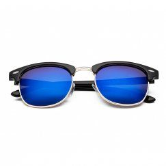 CHB Men's Women's Classic HD Mirrored Wayfarer Lens Metal Frame Street Fashion Designer Polarized Sunglasses UV400 with Cas