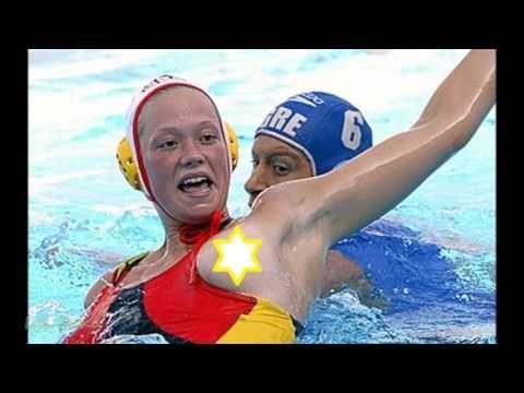 Water polo olympics boob