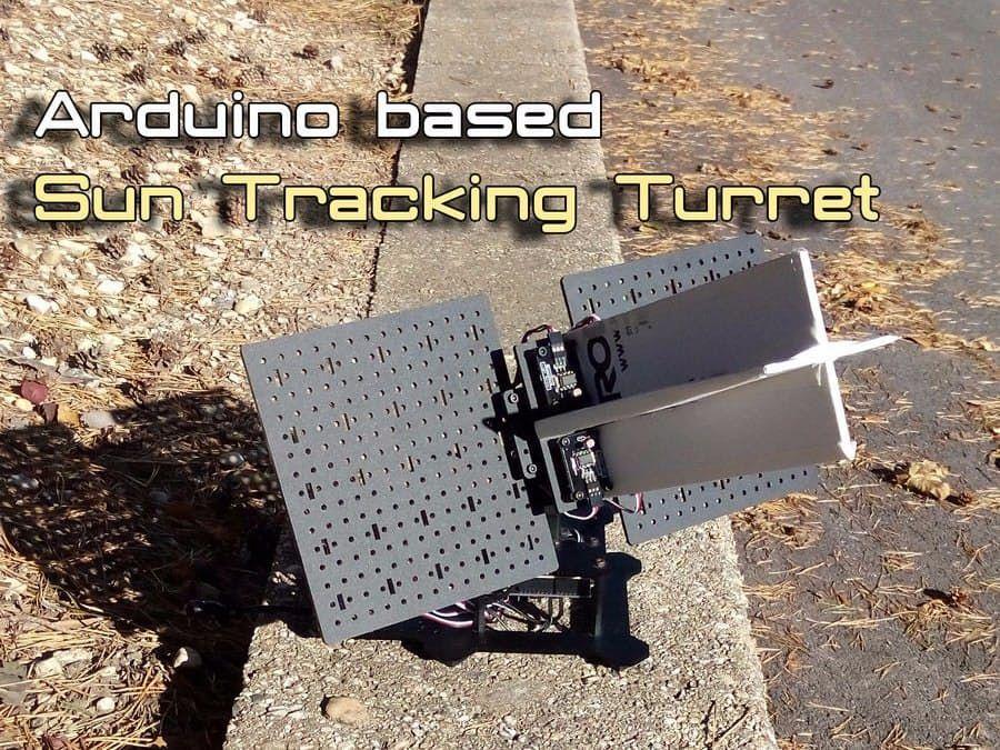 Arduino Sun Tracker Turret Photovoltaic system