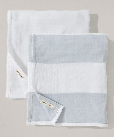 Look what I found on #zulily! 29'' x 29'' Fog Stripe Organic Swaddling Blanket - Set of Two #zulilyfinds