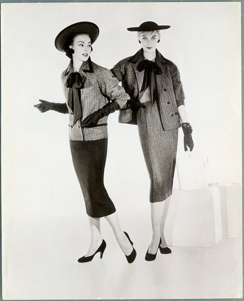 Women Modeling Tweed Outfits