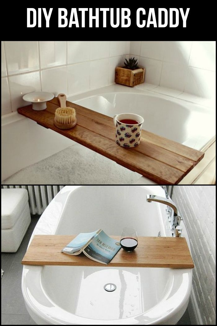 Learn how to make your own bathtub caddy for a more relaxing time in ...