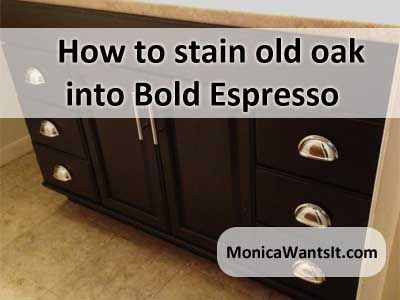 How To Stain Oak Cabinets To A Stunning Espresso Finish Kitchen