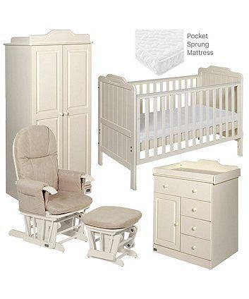 Outstanding Tutti Bambini Alexia 5 Piece Room Set Vanilla Baby Creativecarmelina Interior Chair Design Creativecarmelinacom