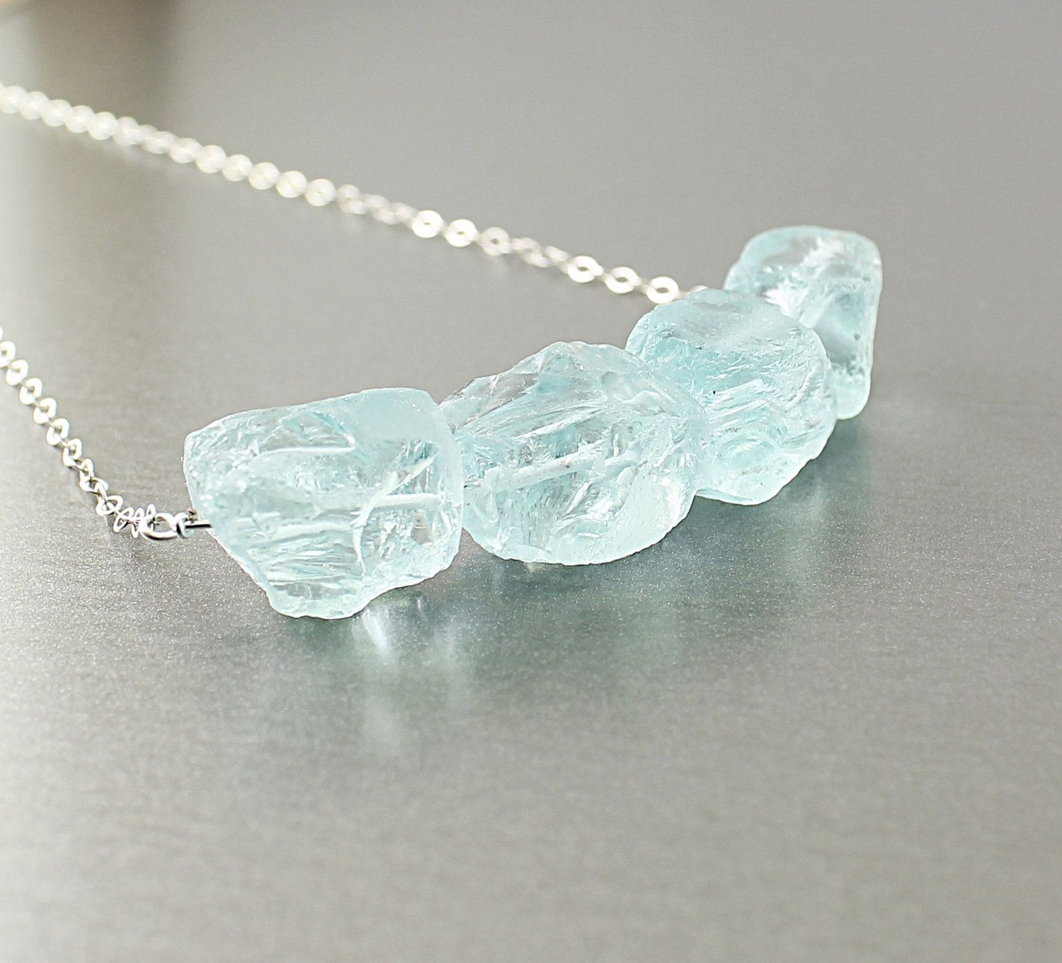 carney lisa design necklace raw shop stone sq aquamarine