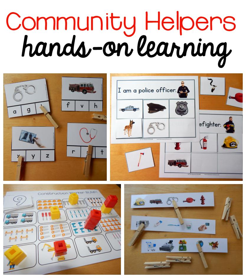 new community helpers theme pack community helpers and kindergarten