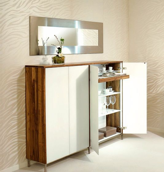 buffet haut contemporain en noyer in the mood 3tt s11 d tec design deco. Black Bedroom Furniture Sets. Home Design Ideas