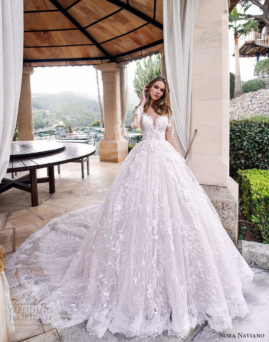 Lace dress bell sleeves june 2019 Nora Naviano  Wedding Dresses u ucVoyageud Bridal Collection