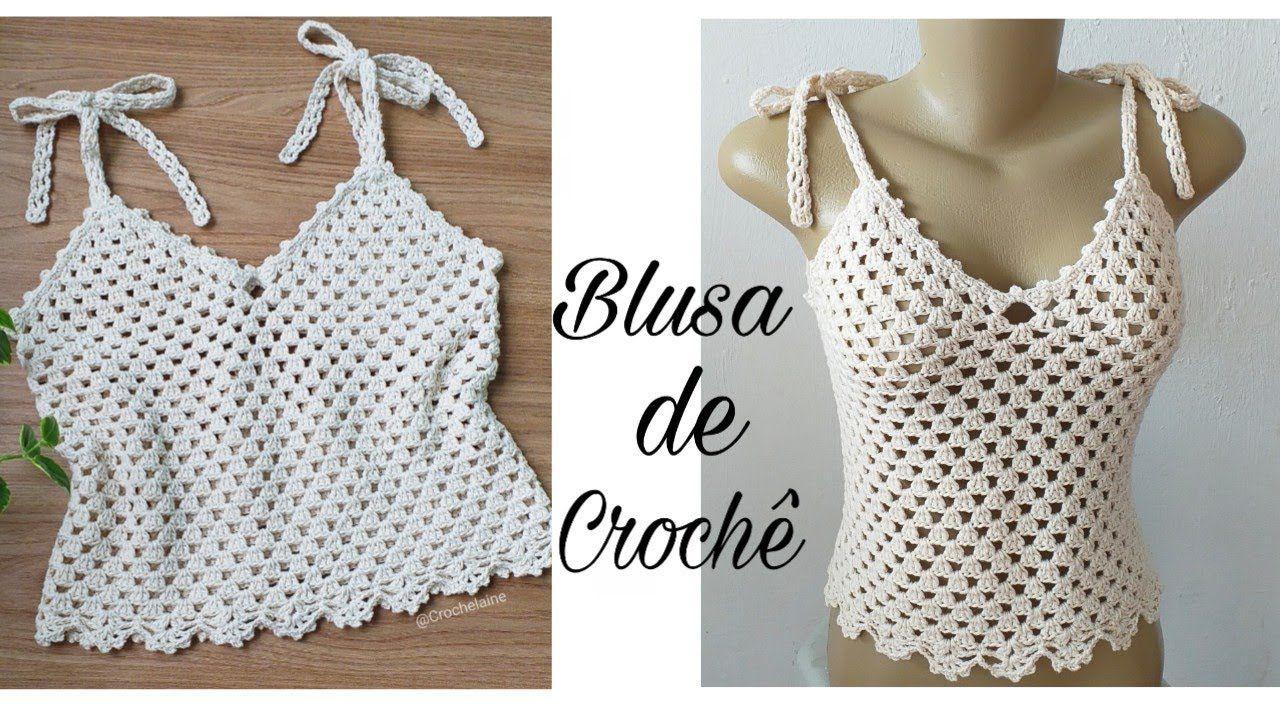 Photo of Blusa ou Cropped de crochê/iniciantes | Jislaine Silva #semprecirculo #crochelaine