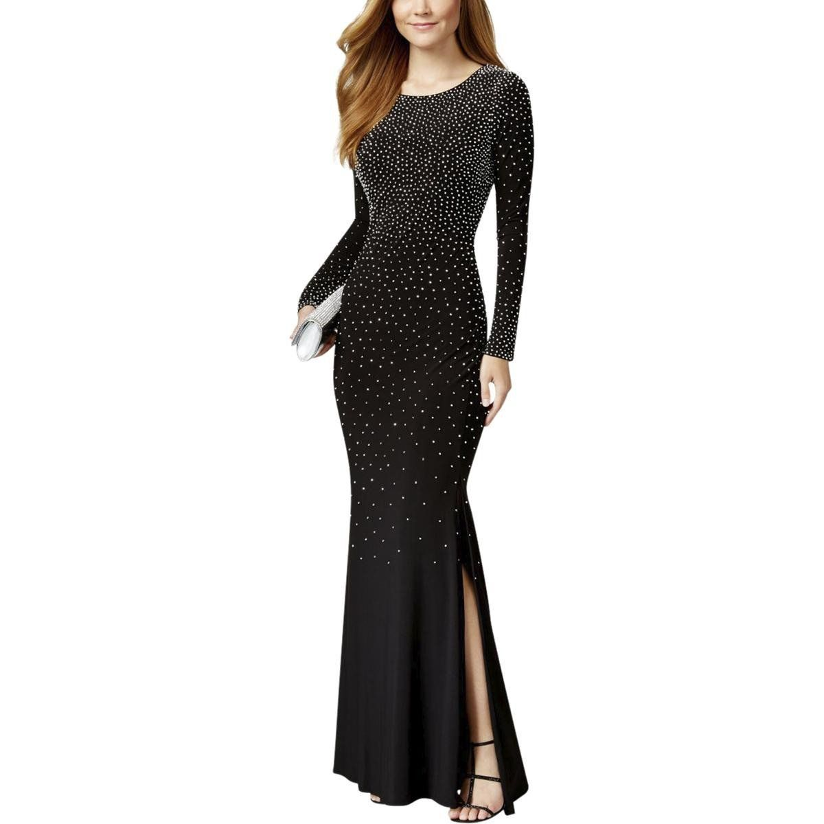 Xscape womens petites rhinestone side slit evening dress products