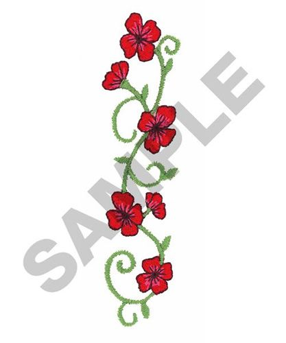 Flower border embroidery design my designs from