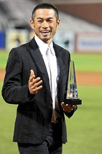 Ichiro Suzuki  It is because of you that I am now a Yankee fan.