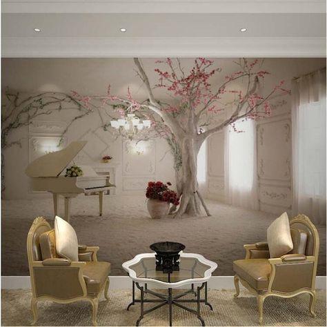 Custom elke maat 3d muur mural wallpapers voor woonkamer, moderne ...