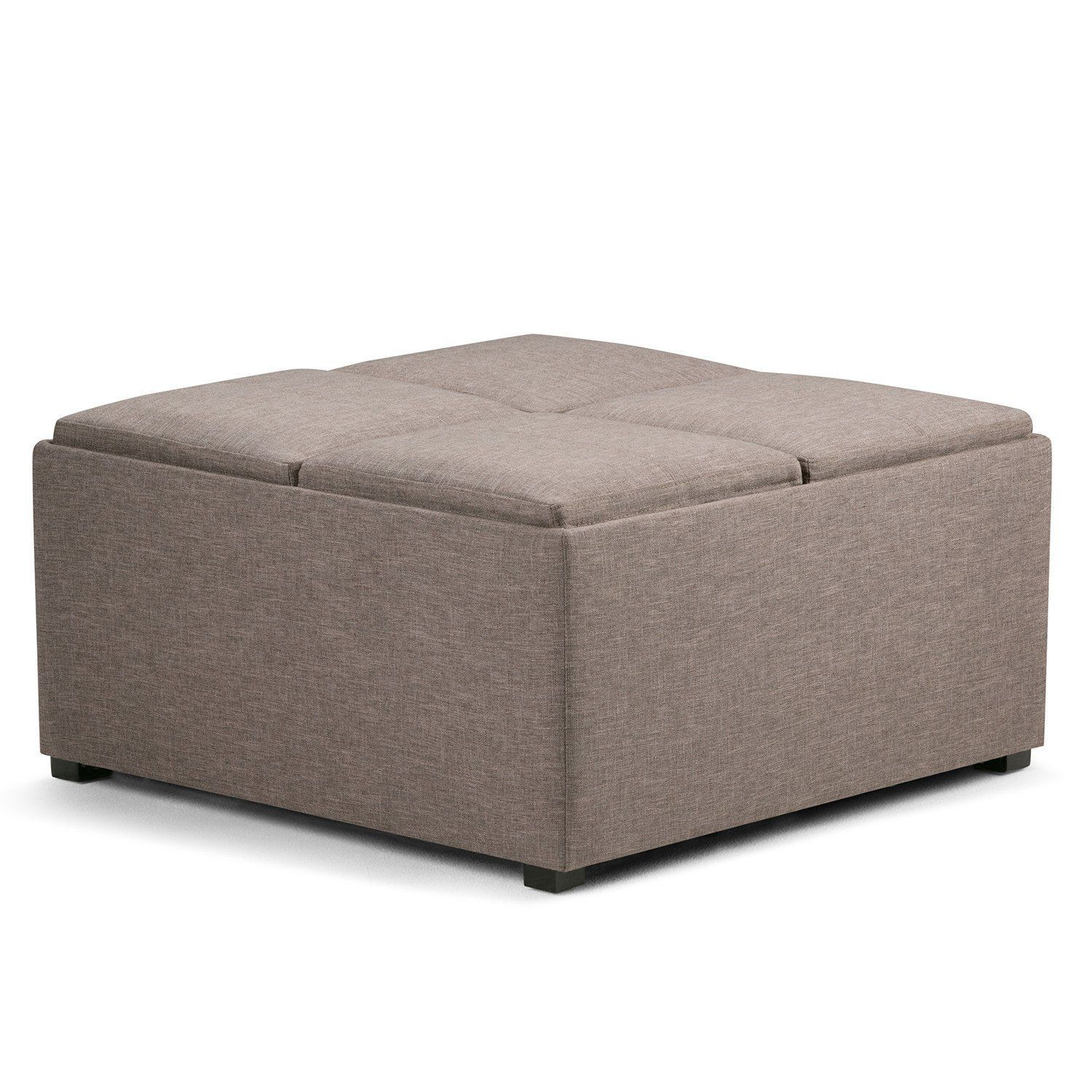 Avalon Faux Leather Square Coffee Table Storage Ottoman