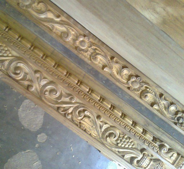 Carved Main Door Frame & Sri Devi Gayathri Wood Carving works Udupi   Main door Doors and Woods