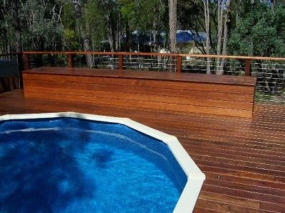 Superbe Building Above Ground Pool Deck | Timber Decking Perth | Composite Decking  Outdoor Jarrah Decking Perth