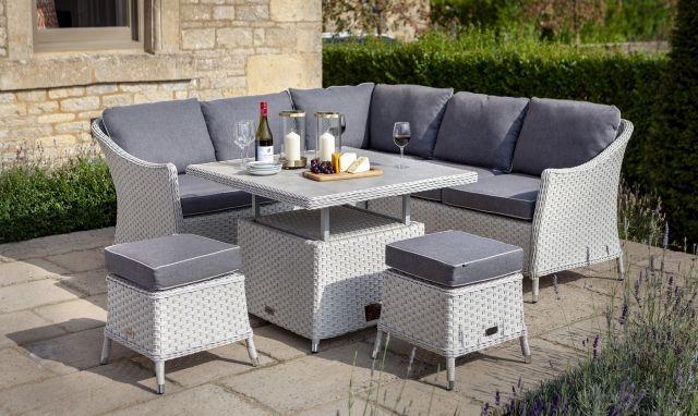 Excellent Key West Square Corner Sofa Garden Set With Rising Table Inzonedesignstudio Interior Chair Design Inzonedesignstudiocom