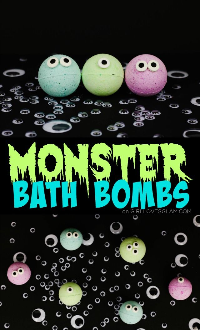 Non Candy Halloween Treats For Kids Monster Bath Bombs Girl Loves Glam Halloween Bath Bombs Kids Bath Bombs Homemade Bath Bombs