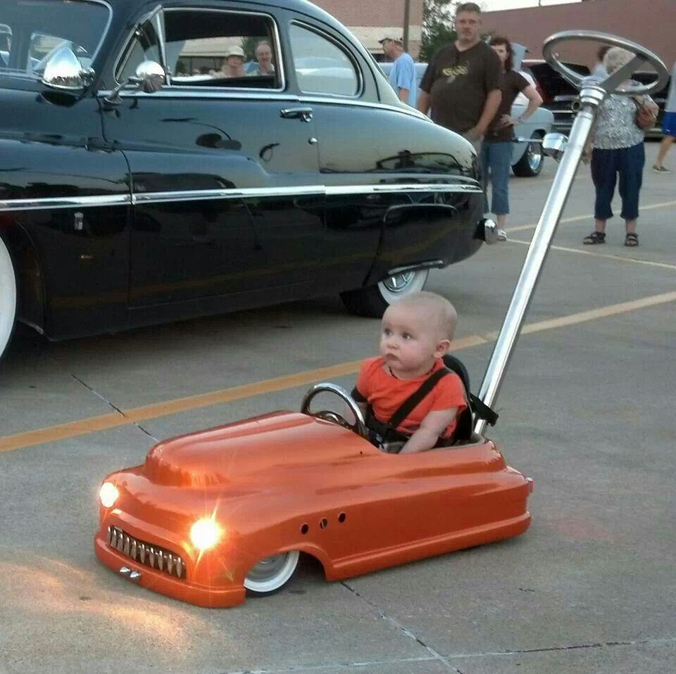 Low Rider Merc Kid Car With Lights