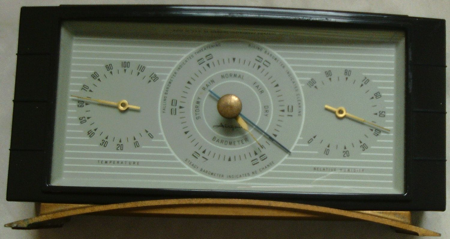 vintage art deco airguide weather station barometer thermometer and rh pinterest com airguide instrument repair airguide instrument company history