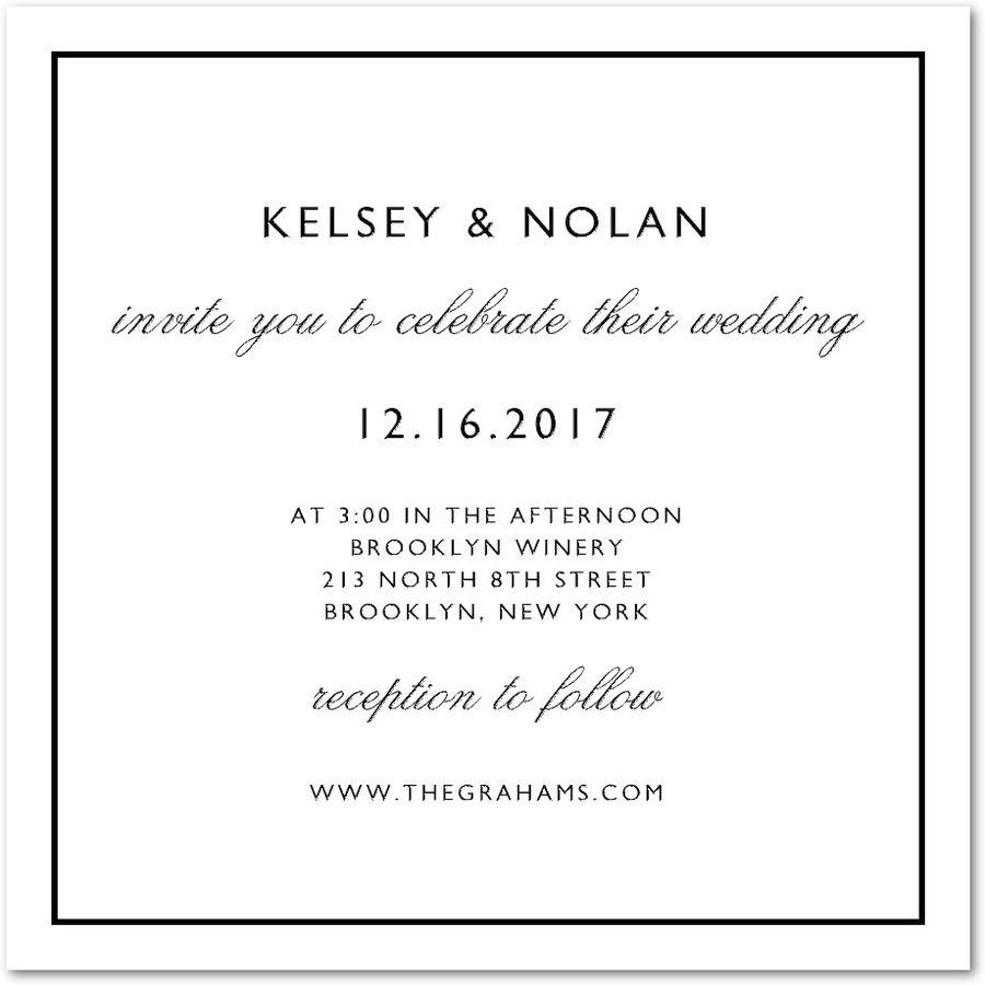 Plain Elegance Letterpress Wedding Invitations In White East Six Design