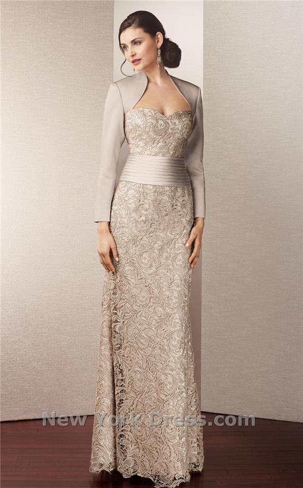 Alyce Jean De Lys 29558 Satin Long Sleeve Lace Gown With Queen Anne  Neckline (Missy, Plus Sizes)   Mother Of The Wedding