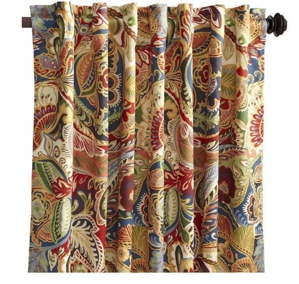 Pier 1 One Imports Vibrant Paisley Panel Lined Curtain