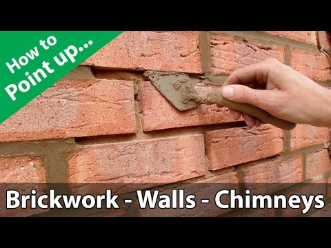 How To Point A Brickwork Wall Or Repoint A Chimney Youtube In 2020 Brickwork Brick Restoration Brick Repair
