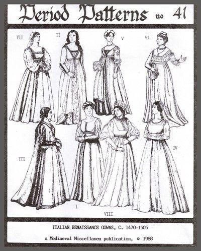 Schnittmuster: Italienische Renaissance - Kleider in 2018 | Historic ...