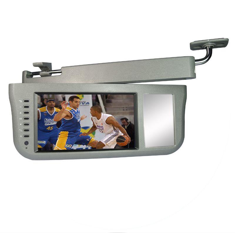 sun visor tv screen