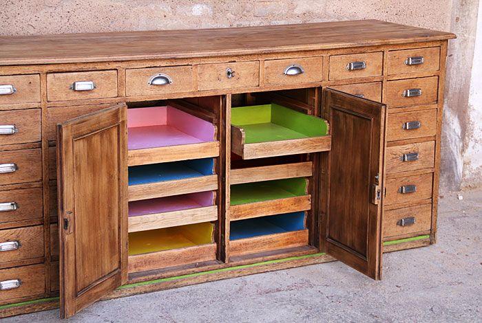 vestiaire armoire m tal vintage industriel relook bleu. Black Bedroom Furniture Sets. Home Design Ideas