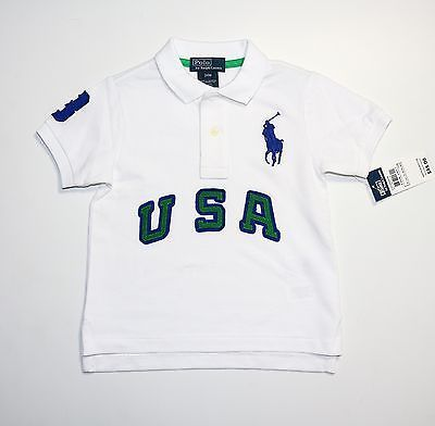 Ralph Lauren USA Big Pony White Shirts Short Sleeved