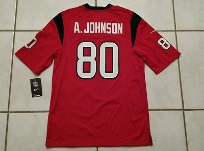 NWT Nike On Field Houston Texans Andre Johnson RED NFL Jersey Men s Large a577c6606