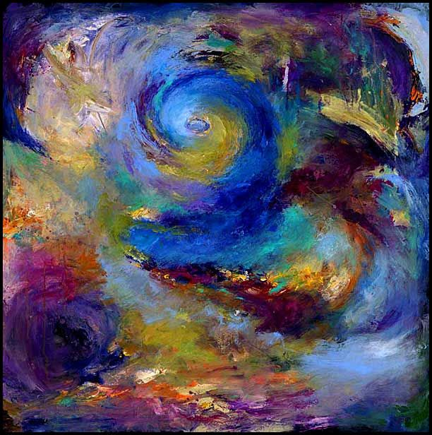 Abstract Expressionistic Acrylic Art