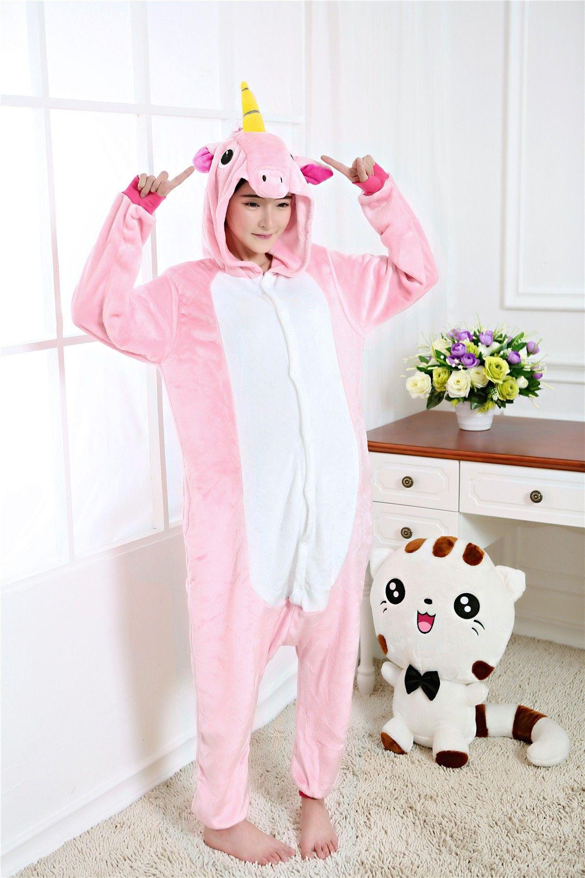 5f26510e3 kigurumi pink Pegasus onesies animal pajamas for adults