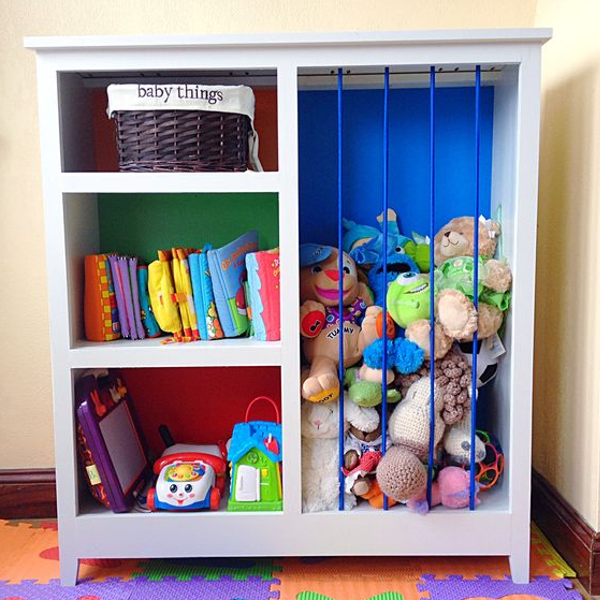 Diy Toy Organizer Diy Toy Storage Ideas Perfect For Small Spaces And Kids Diy Inspiration Toyorganizer Toystora Bookshelves Kids Diy Playroom Toy Rooms