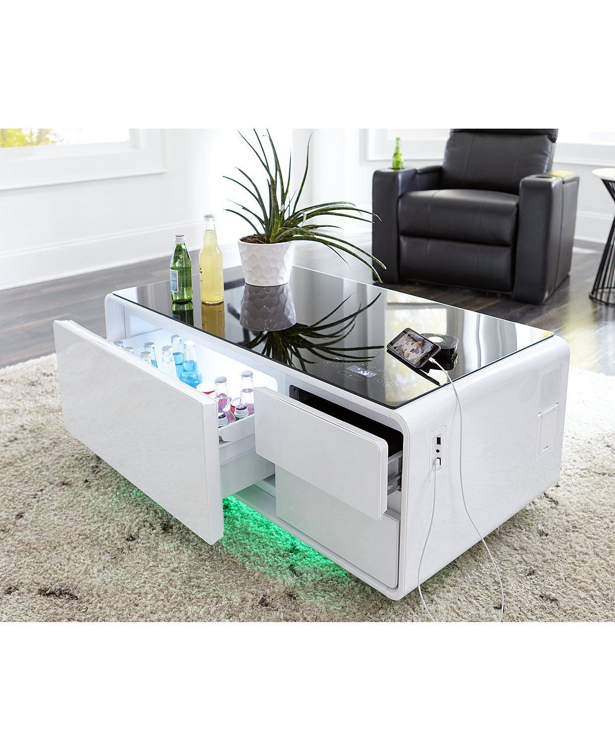 Sobro Smart Storage Coffee Table With Refrigerated Drawer Reviews Furniture Macy S Coffee Table With Storage Coffee Table With Fridge Coffee Table [ 1518 x 1242 Pixel ]