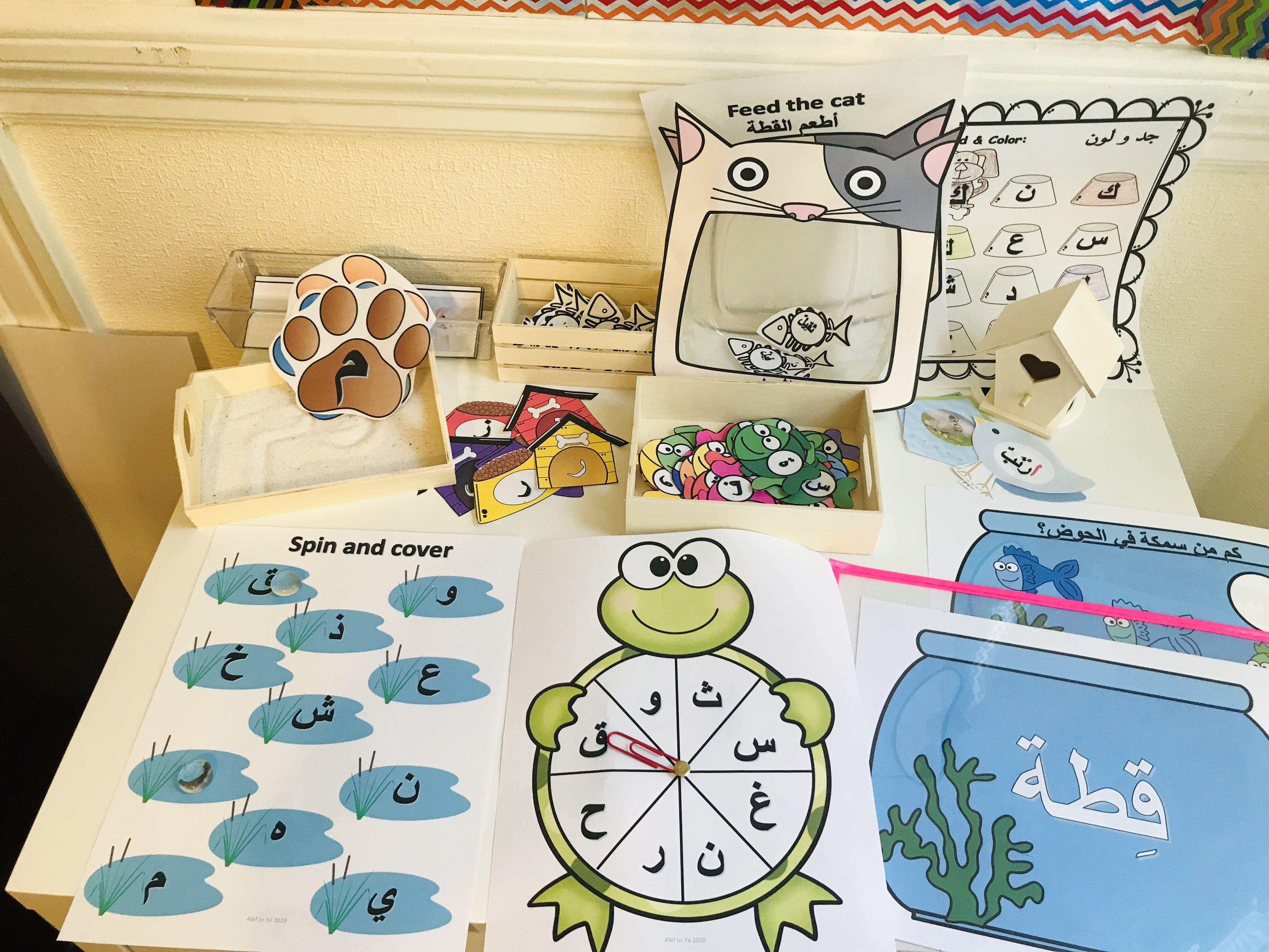 Arabic Pets Unit الحيوانات الأليفة Alphabet Cards Esl Teachers Teaching Resources