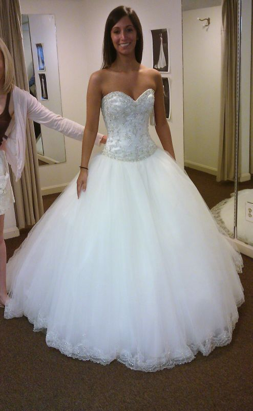 Can Wear My Hair Down With My Ball Gown Wedding Imag0034c