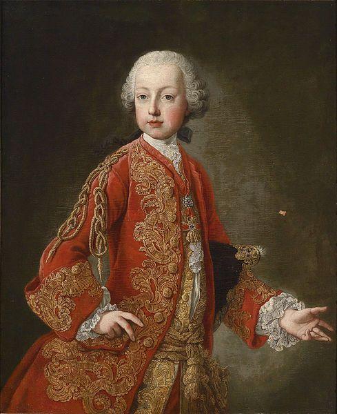 Reinette: Marie Antoinette's Siblings Archduke Franz Joseph,future Emperor Joseph II,1770 Martin van Mytens