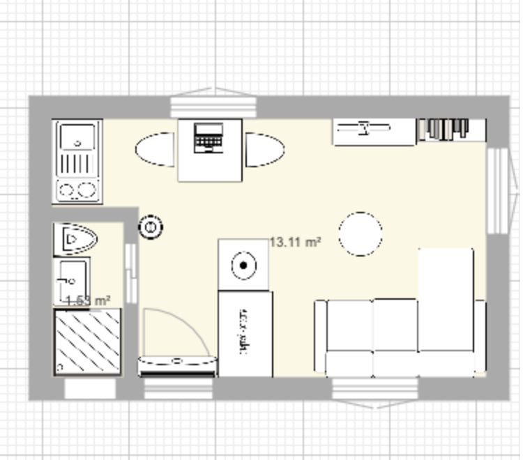Plan Studio 13m2 Plan Studio Architecte Amenagement