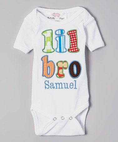 This White 'Lil Bro' Personalized Bodysuit - Infant by DressHerUp is perfect! #zulilyfinds