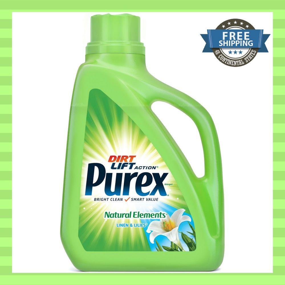 Purex Dirt Lift Action Liquid Laundry Detergent Linen Lilies 75 Oz 50 Loads Laundry Detergent Purex Detergent