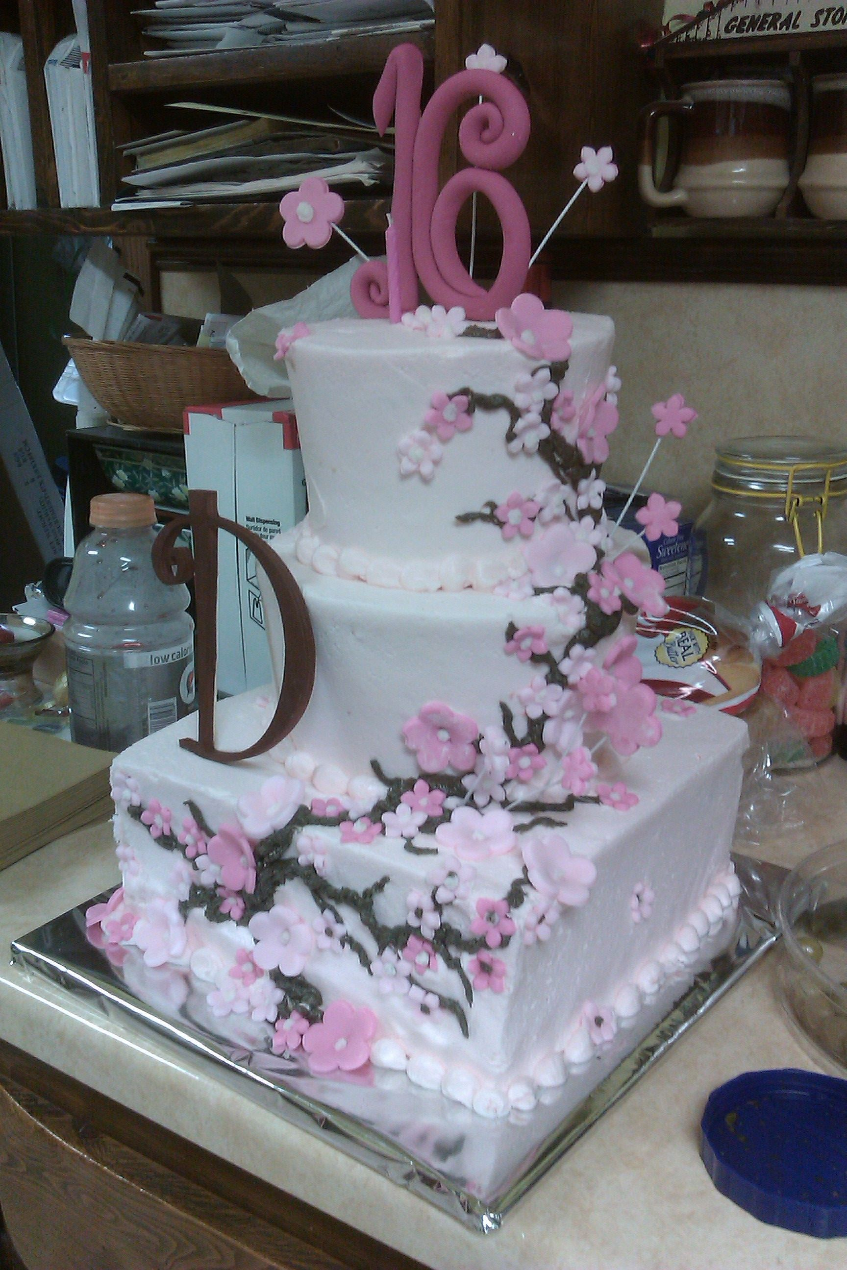 Dallas sweet 16 cake by aunt barbarashe seriously