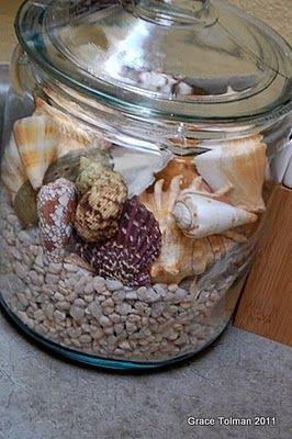In My Shoes Diy Decorating Project A Card Sea Shell Decor Sea Shells Beachy Decor