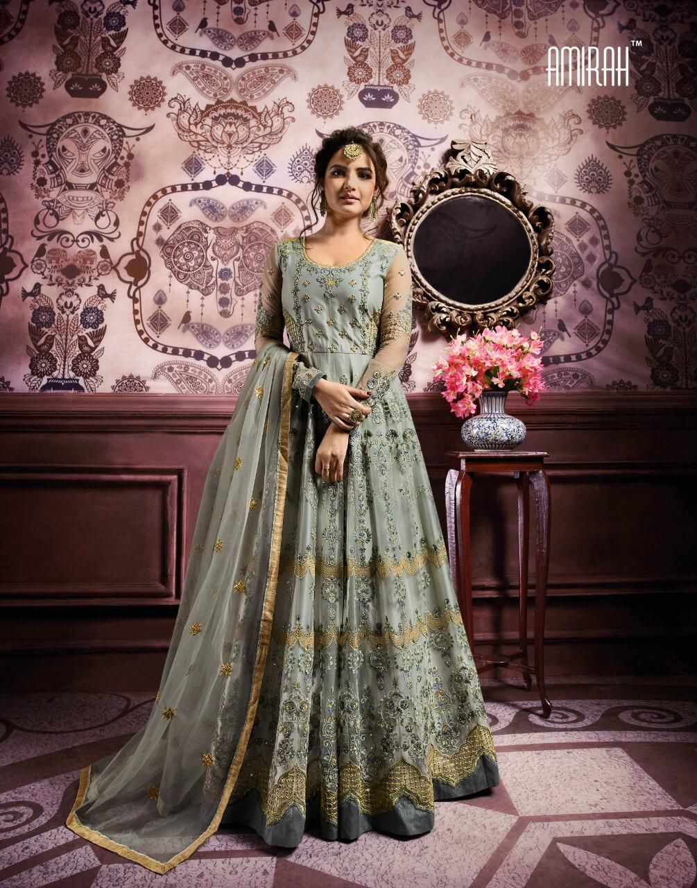 20a72a5d0 Amirah Vol 18 Georgette Anarkali Designer Suit D.No 11023 ...