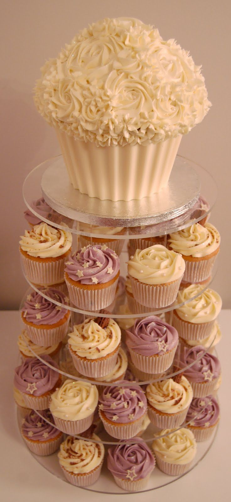cute idea! Cute for a shower Giant cupcake cakes